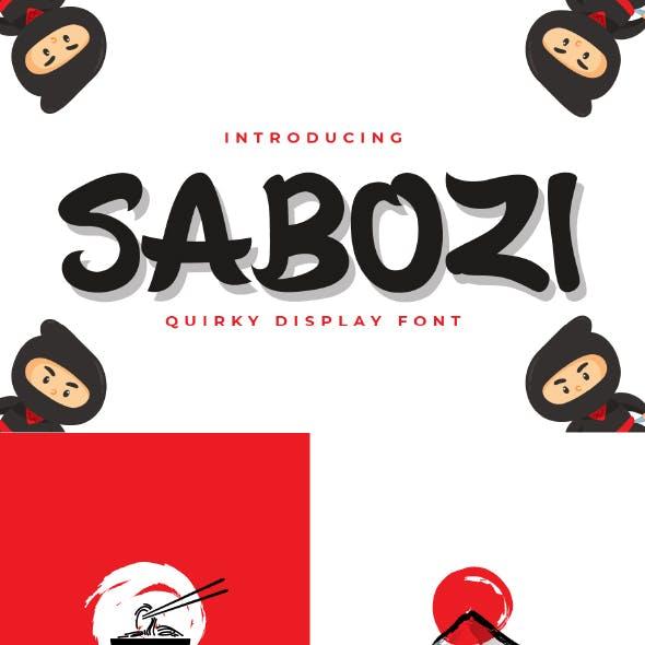 Sabozi - Quirky Display Font