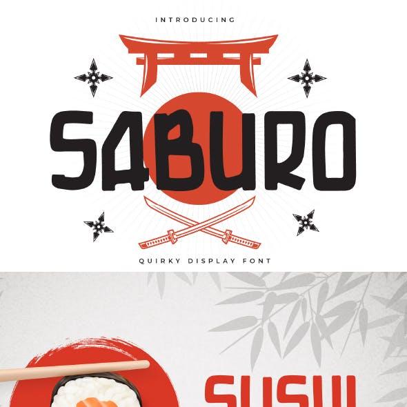 Saburo - Quirky Display Font