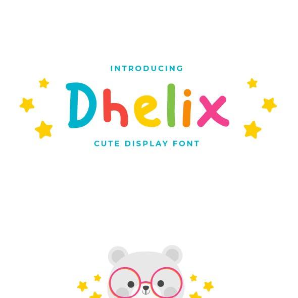 Dhelix - Cute Display Font