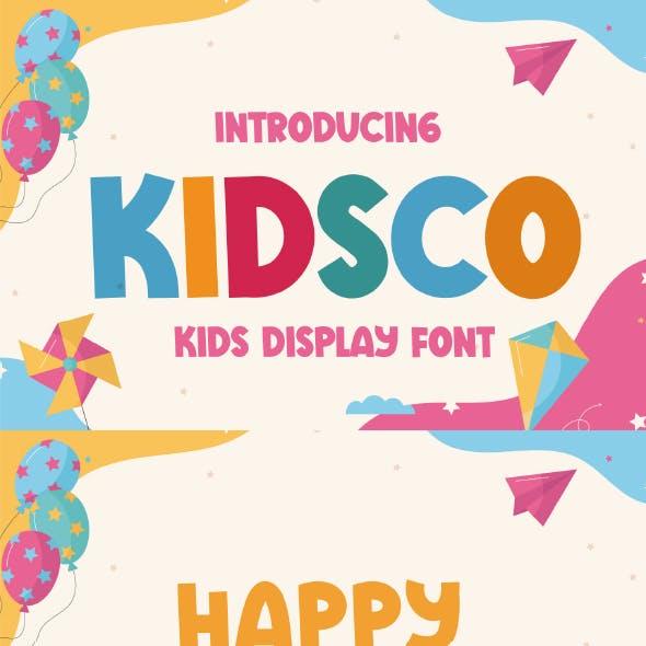 Kidsco - Cute Display Font