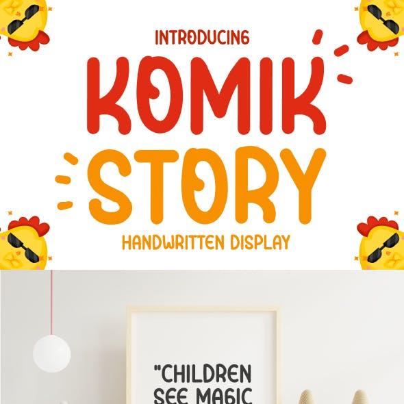 Komik story - Cute Handwritten Display