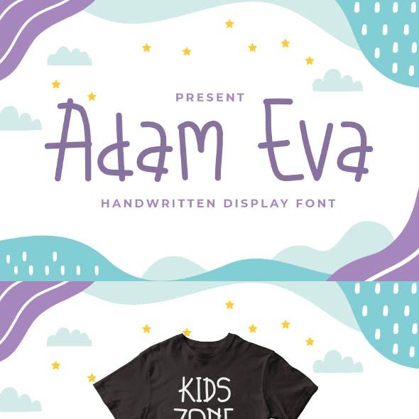 Adam Eva - Handwritten Display Font