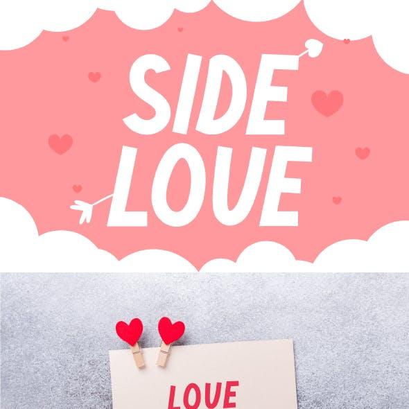 Side Love - Cute Display Font