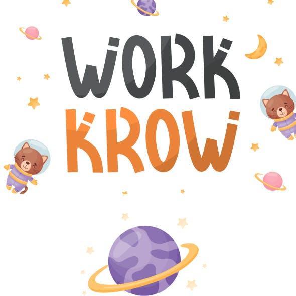 Work Krow - Cute Display Font