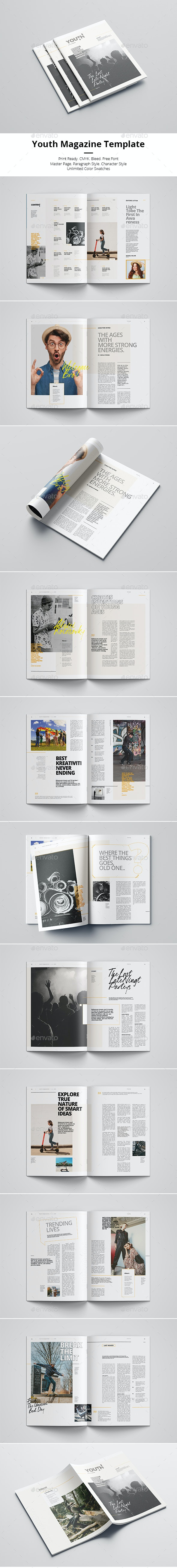 Youth - Magazines Print Templates
