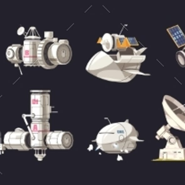 Space Ship Isolated Set