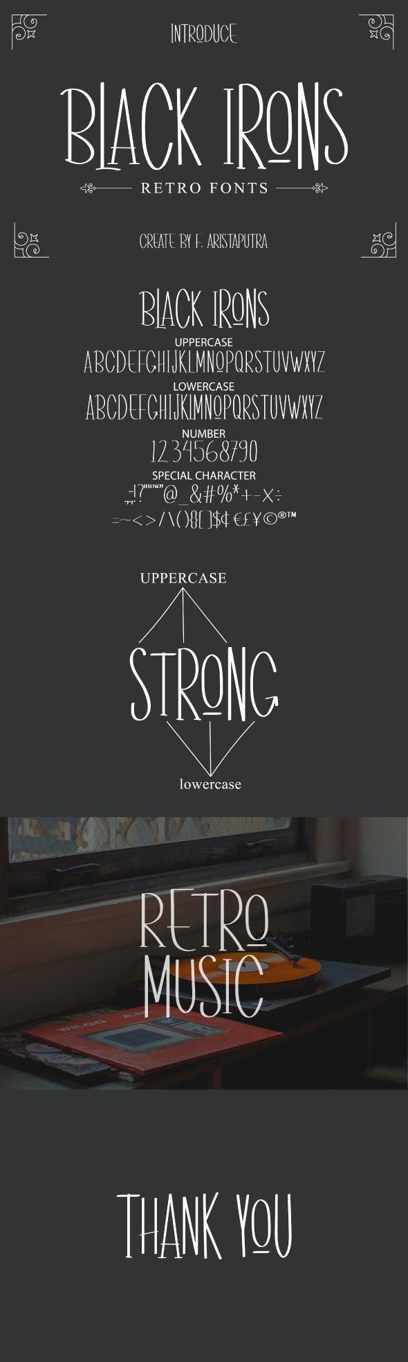 Black Irons - Sans-Serif Fonts