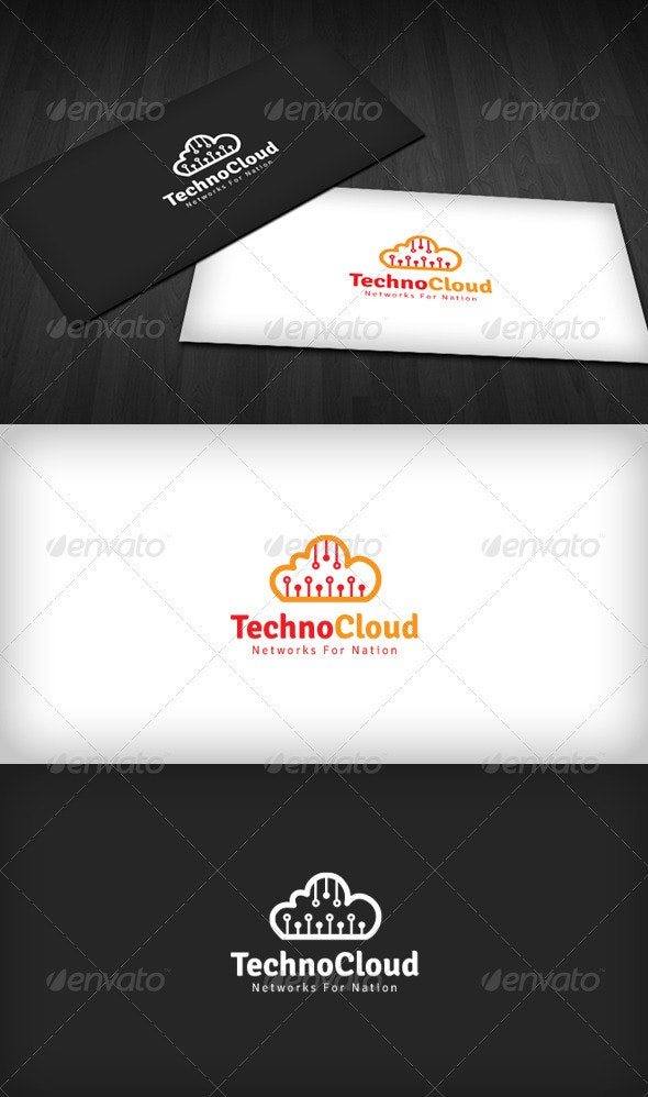 Techno Cloud Logo - Symbols Logo Templates