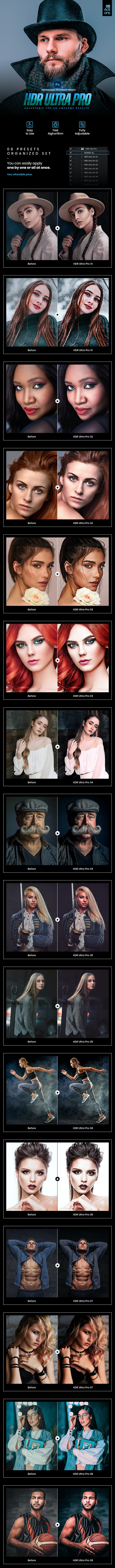 08 HDR Ultra Pro Photoshop Actions - Photo Effects Actions