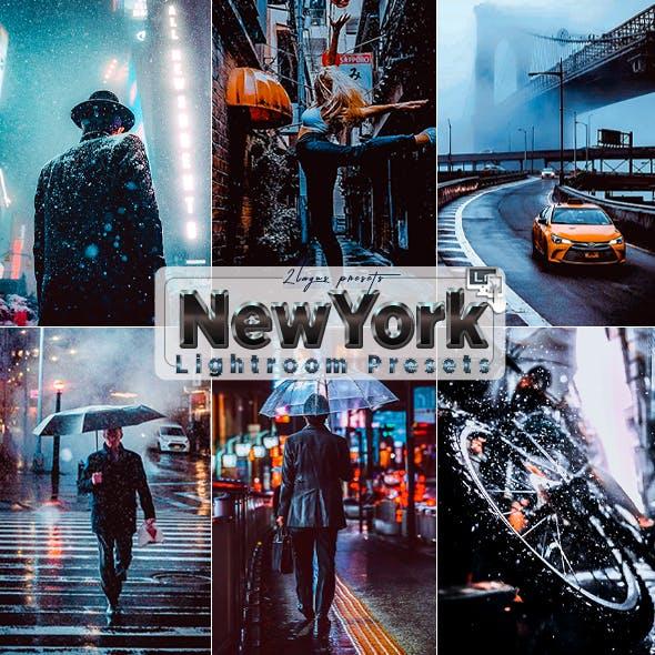 NewYork Winter Street  Presets (Mobile & Desktop)