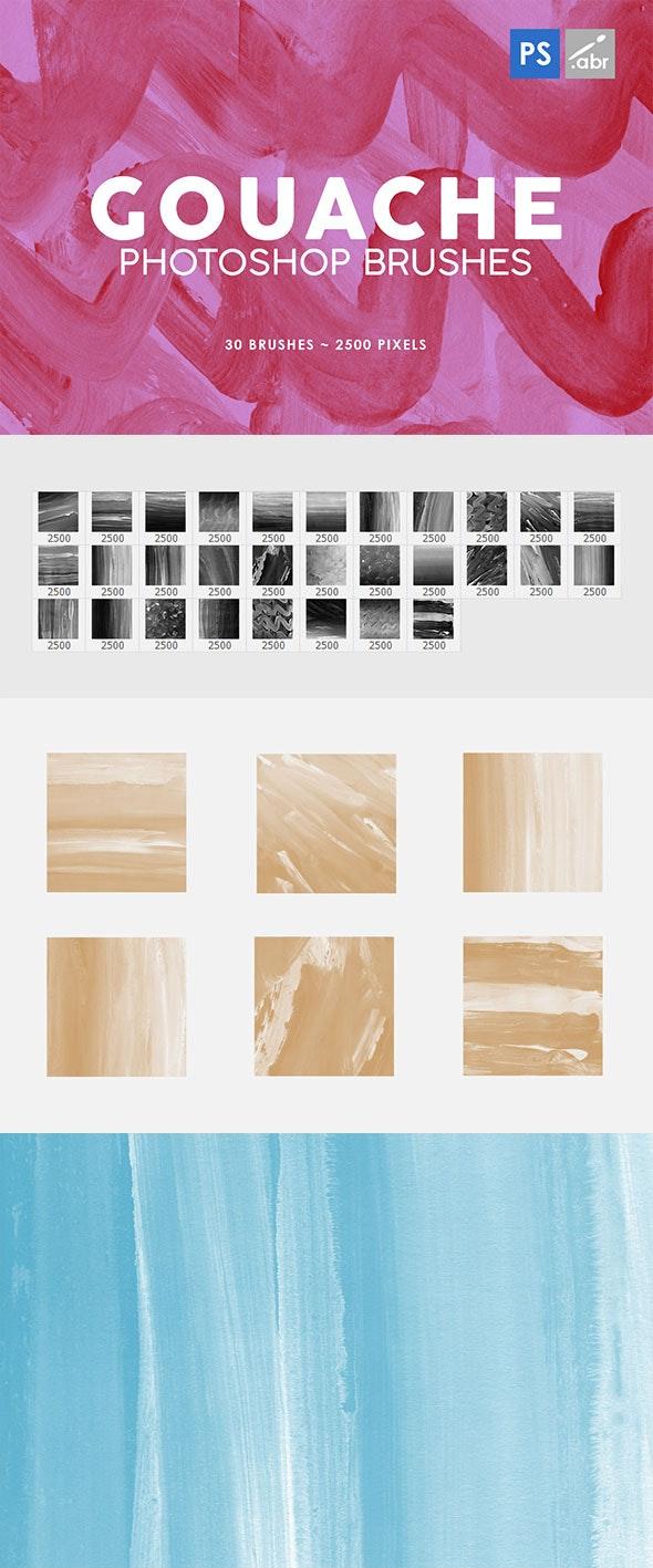 30 Gouache Photoshop Stamp Brushes 3 - Brushes Photoshop