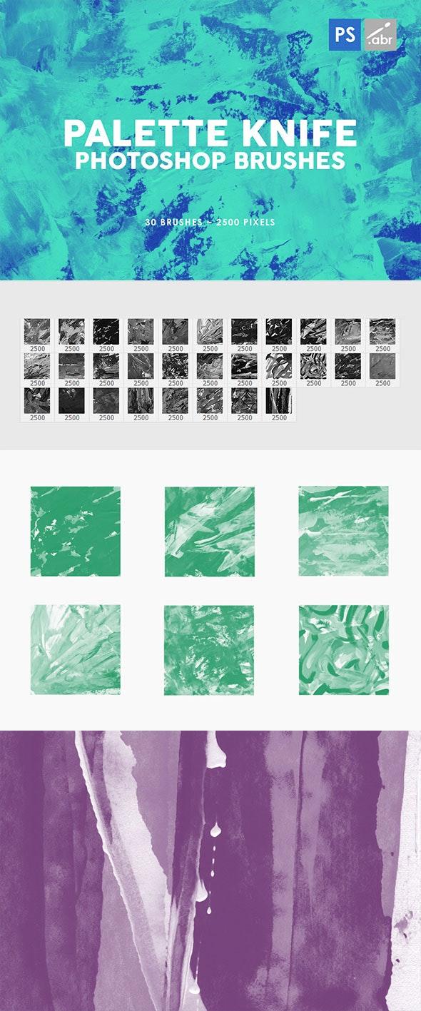 30 Palette Knife Photoshop Stamp Brushes 3 - Brushes Photoshop