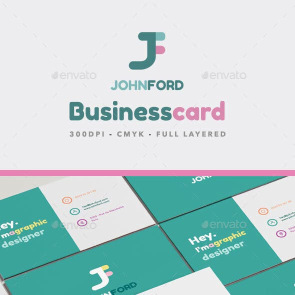 Colors Business Card - PSD - AI - INDD - PDF