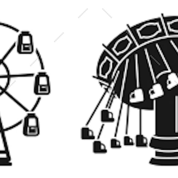 Carousel Icons Set Simple Style