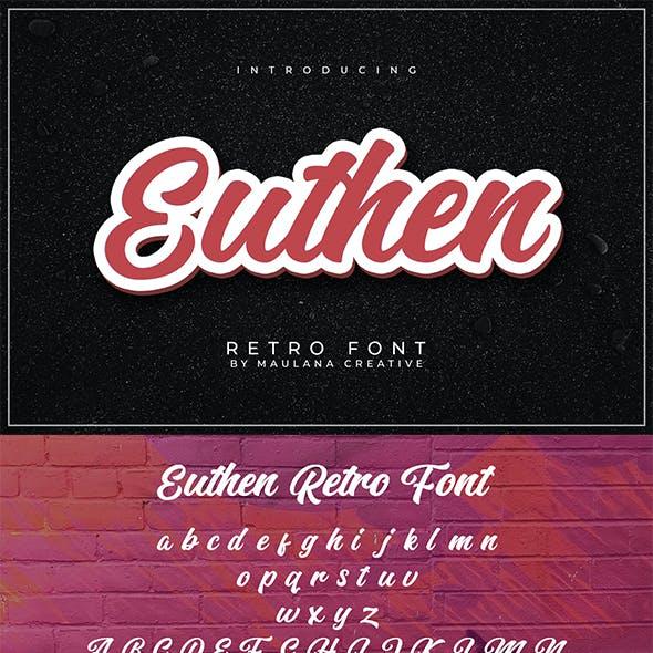 Euthen Retro Font