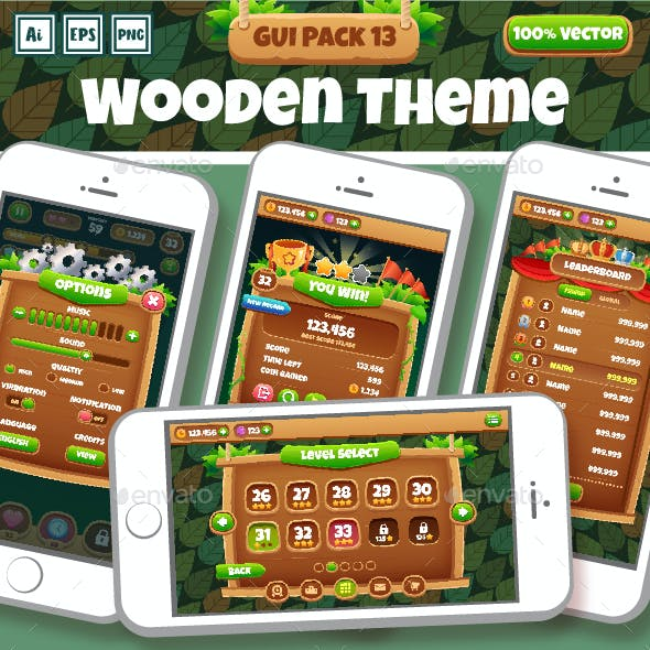 Wooden Theme GUI Pack 13