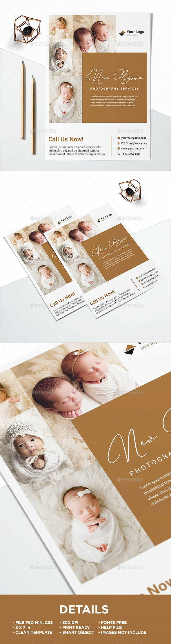 Pricelist New Born Photography Flyer - Corporate Flyers