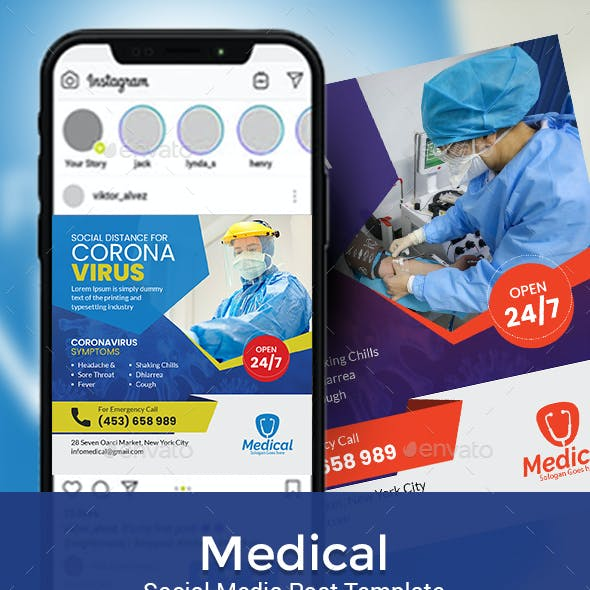 Medical Social Media Post Template