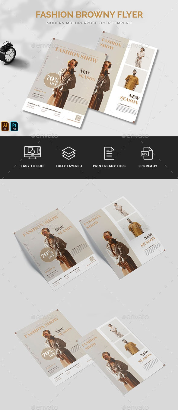 Fashion Browny Flyer - Flyers Print Templates
