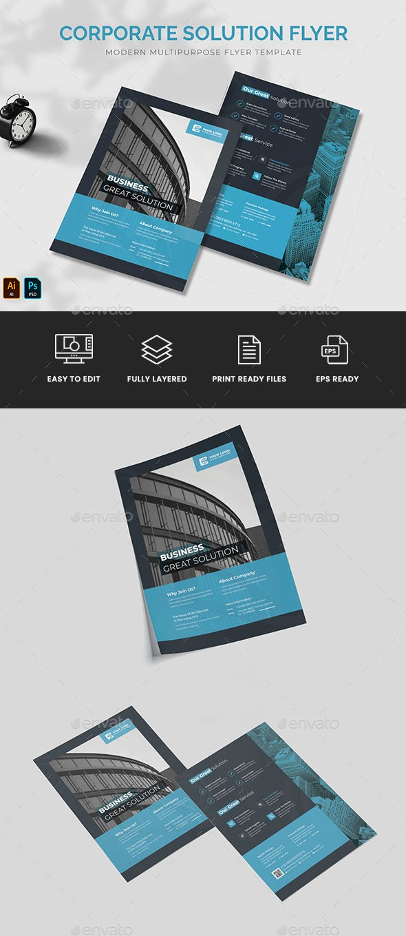 Corporate Solution Flyer - Corporate Flyers