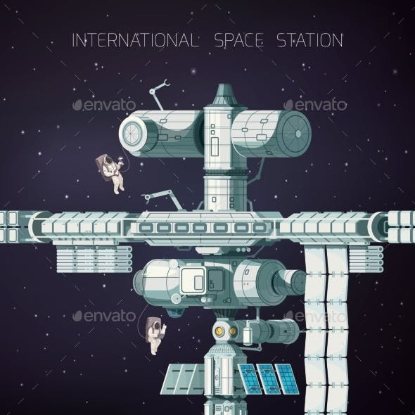 Orbital International Space Station Flat