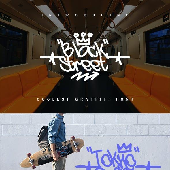 Black Street - Coolest Graffiti Font