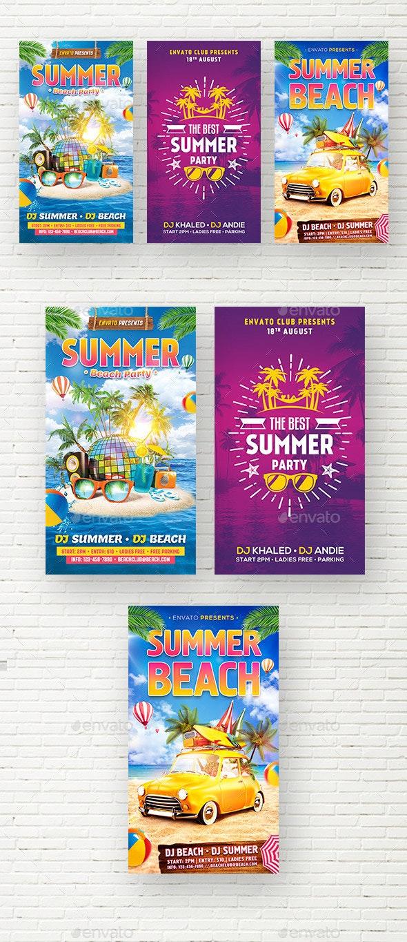 Summer Social Media Stories - Social Media Web Elements
