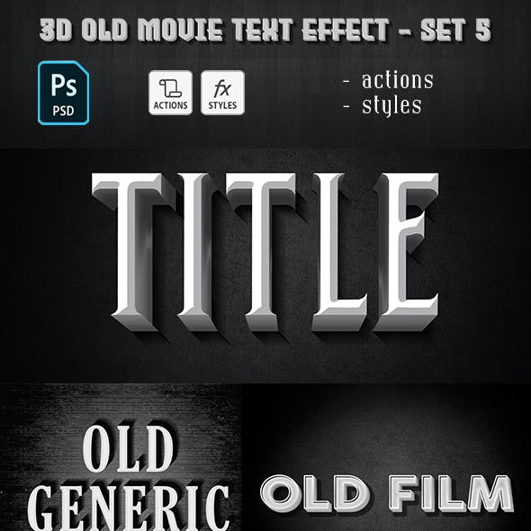 Old Movie Text Effect