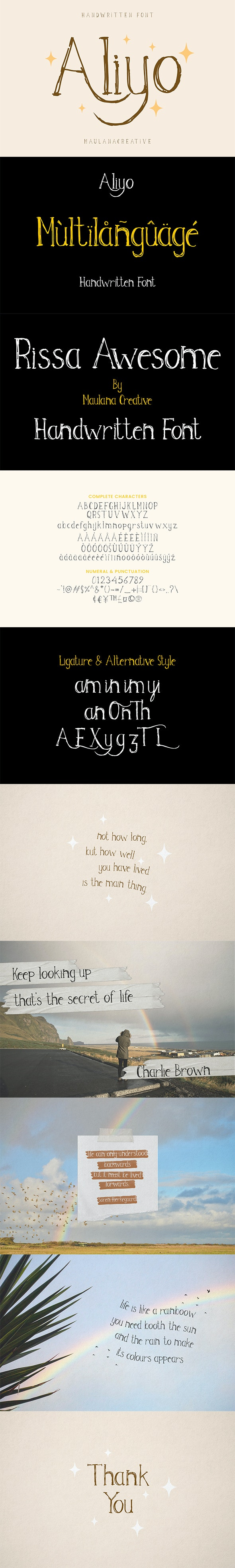 Aliyo Handwritten Font - Sans-Serif Fonts