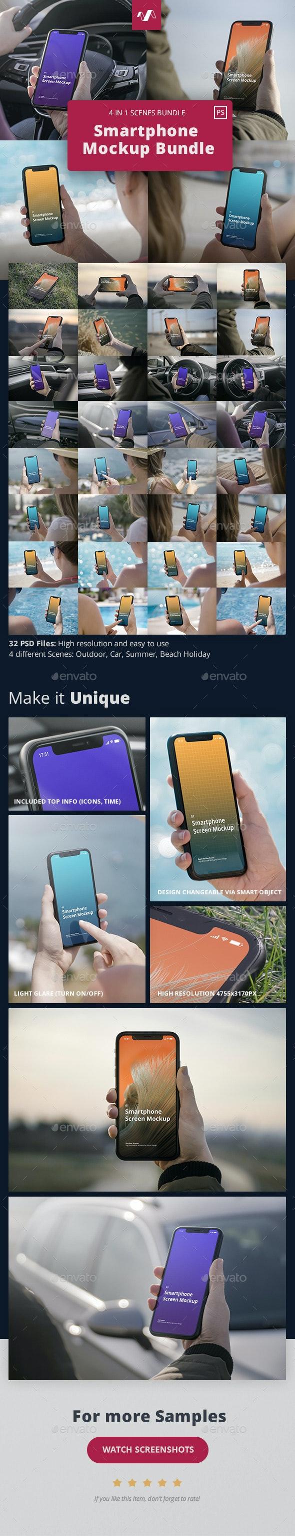 Phone Mockup Scenes Bundle - Mobile Displays