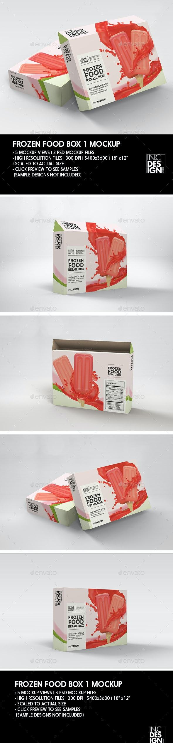 Thin Frozen Food Box Packaging Mockup - Packaging Product Mock-Ups