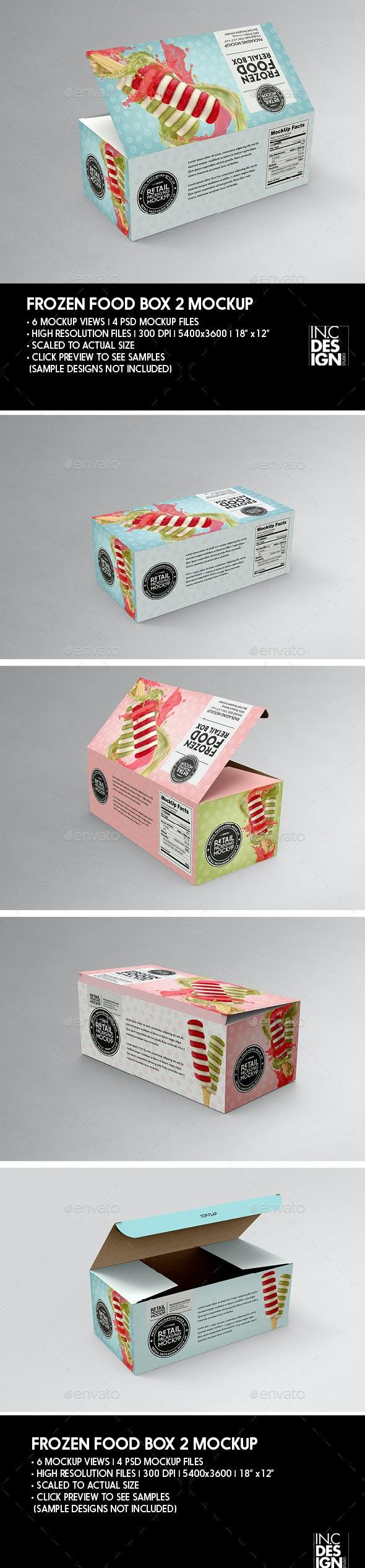 Big Frozen Food Box Packaging Mockup - Packaging Product Mock-Ups