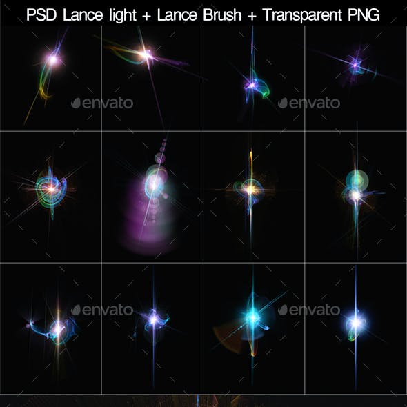 PSD light Lance Brush Transparent PNG