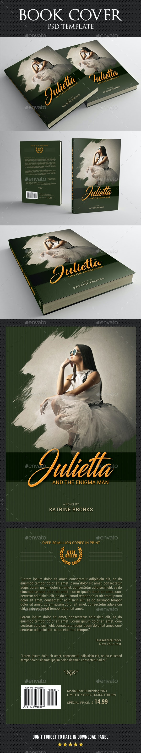 Book Cover Template 80 - Miscellaneous Print Templates