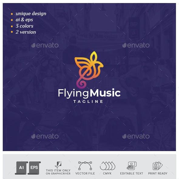 Flying Music Logo
