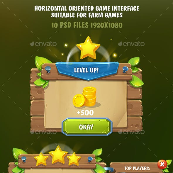 Horizontal Game Interface Suitable for Farm Games