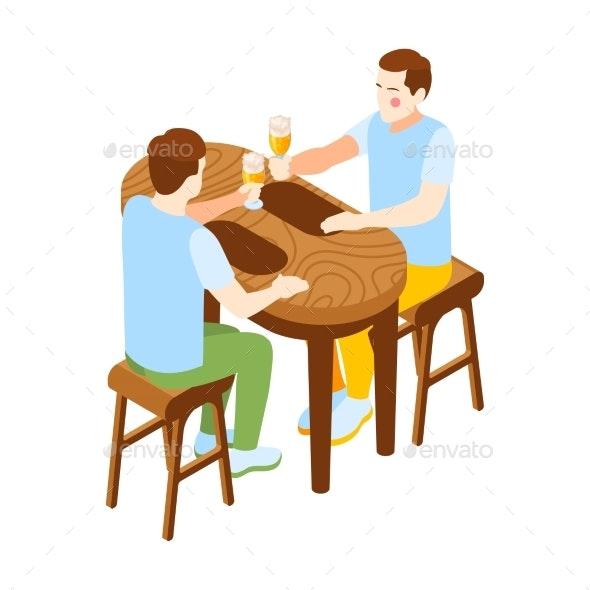Pub Vector Illustration - Food Objects