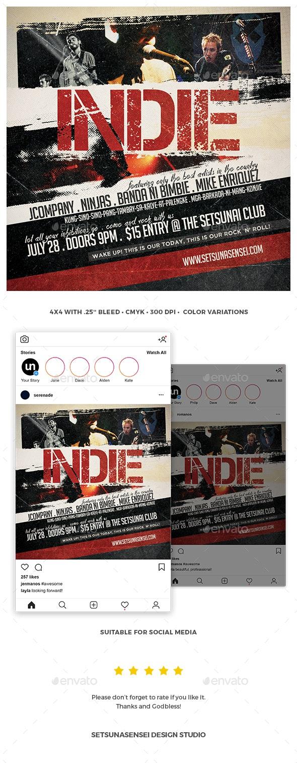 Indie Flyer - Concerts Events