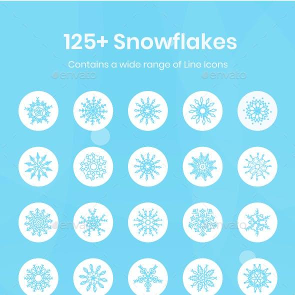 125+ Snowflakes Icons