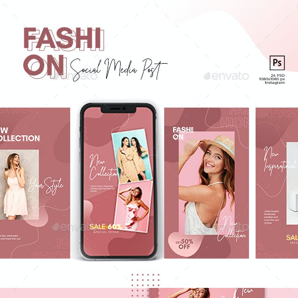 Fashion - Pink Banner - Social Media Post and Stories