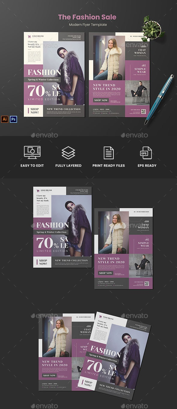Fashion Sale Flyer - Flyers Print Templates