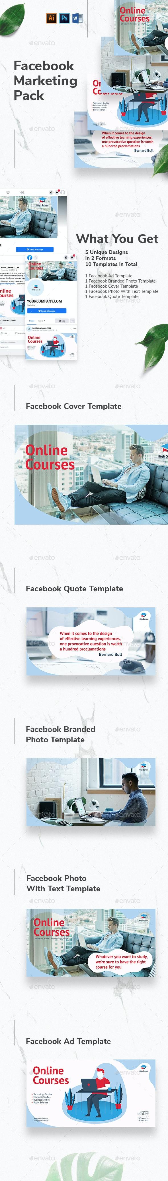 Online Courses Facebook Marketing Materials - Facebook Timeline Covers Social Media