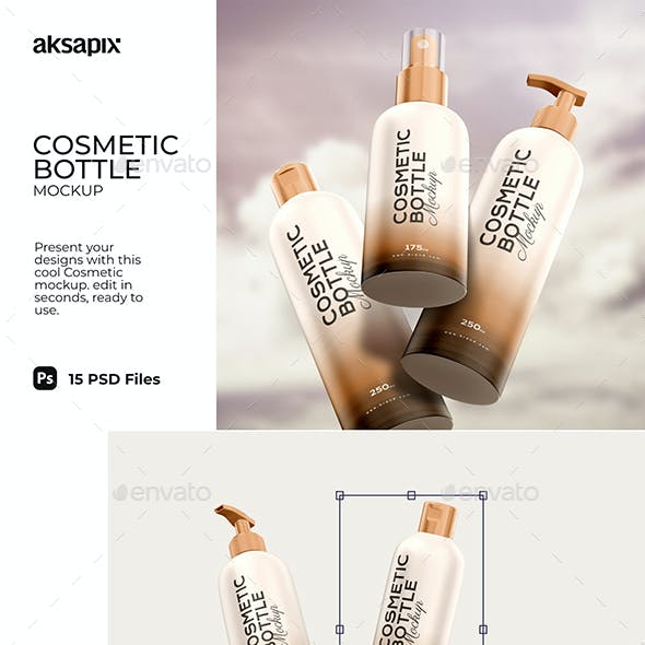 Cosmetic Bottle - Mockup