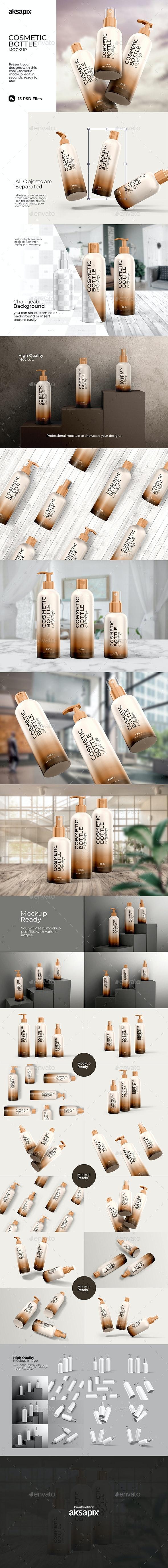 Cosmetic Bottle - Mockup - Beauty Packaging