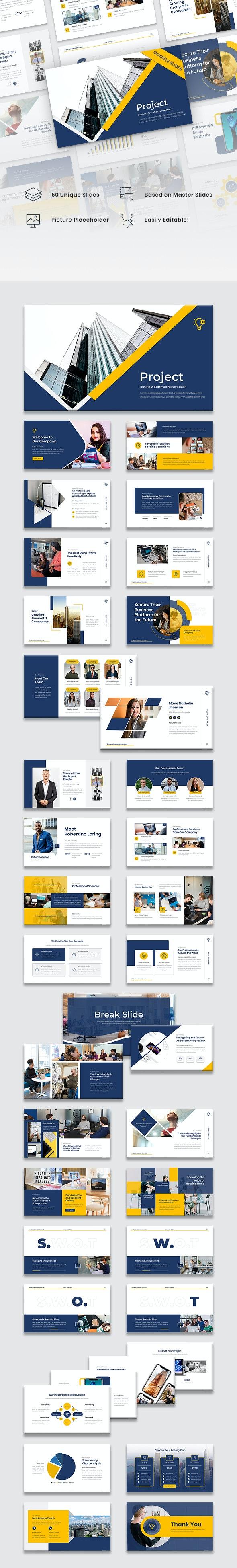 Project - Business Start-Up Google Slides Template - Google Slides Presentation Templates