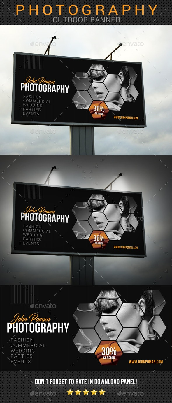 Photography Outdoor Banner 03 - Signage Print Templates