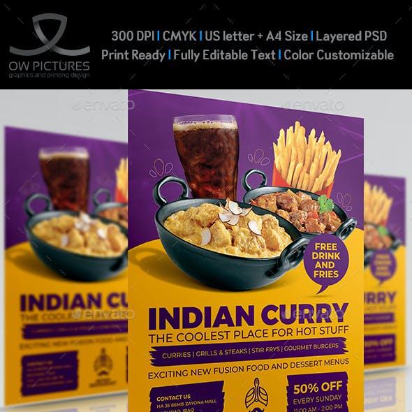 Indian Restaurant Flyer Template Vol.3
