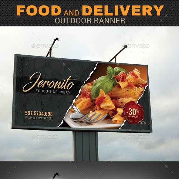 Food Delivery Outdoor Banner 02
