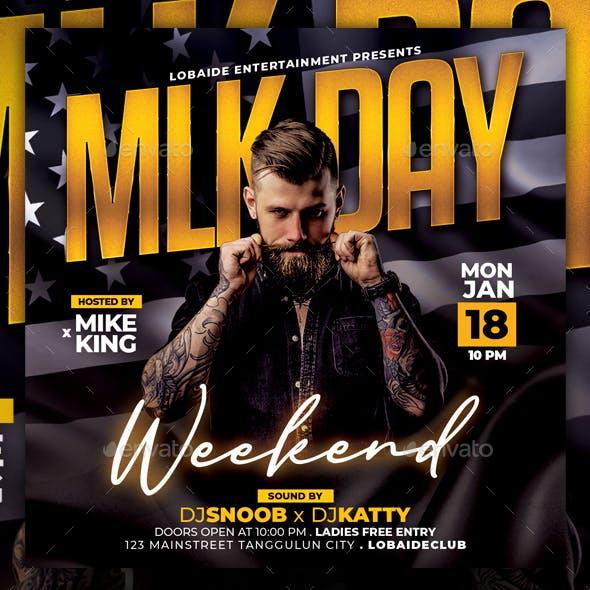 MLK Day Weekend Flyer