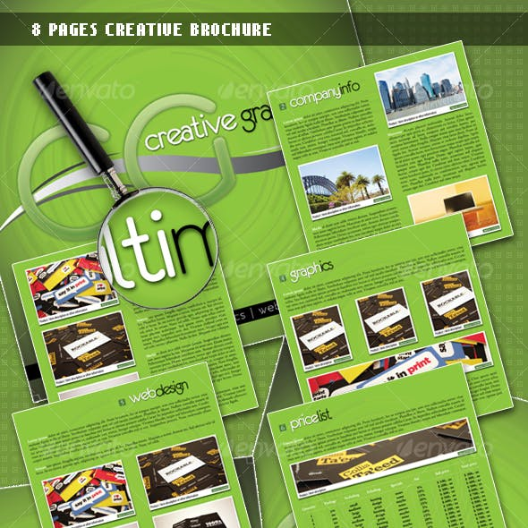 8 Pages Creative Brochure